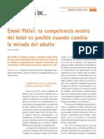 Emmi pikler, la competencia motriz del bebe es posible cuando cambia la mirada del adulto.- Godall T..pdf