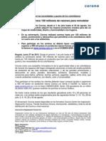 CORONA OFRECE 100 MILLONES DE RAZONES PARA REMODELAR