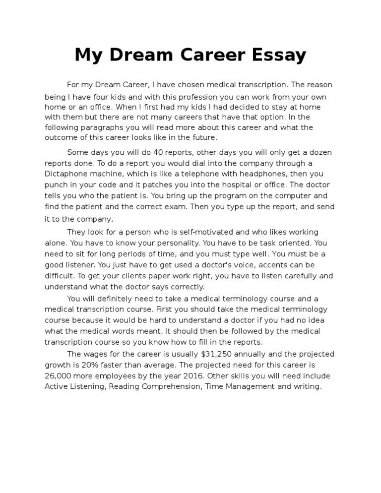 dreams essay writing