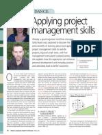 Applying project management skills