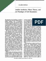 Formalist Aesthetics,Music Theory