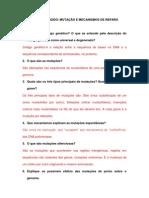 Estudo dirigido (mutação e mecanismos de reparo) 7 e 8