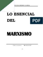 Lo Esencial Del Marxismo_g. Lora