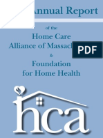 Home Care Alliance 2013 Annual Report