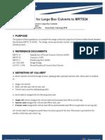 Design Criteria for Large Box Culverts (Main Road)