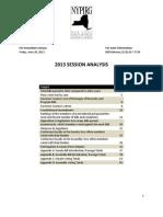NYPIRG 2013 Session Analysis