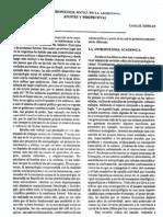 HERRÁN (1991) Antropología social en la Argentina