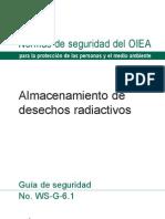 Almacenamientoe de Residuos Radiactivos