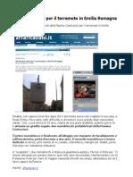 Da Pessina Aiuti Per Il Terremoto in Emilia Romagna