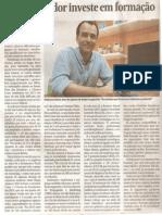 Empreendedor investe em formação - Valor Econômico 28/06