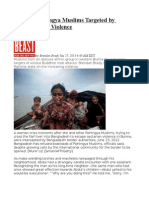 Burma's Rohingya Muslims Targeted by Buddhist Mob Violence