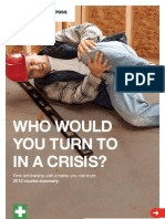British Red Cross First Aid Training