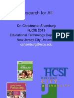 Research for All.  NJCIE Presentation 2013