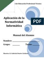 Aplicacion de la Normatividad Informática