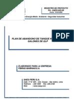 Plan de Abandono Tanque GLP