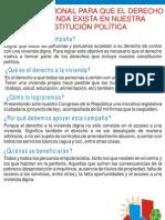Volante Campaña Derecho a la Vivienda en el Perú
