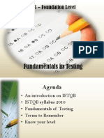 Chapter 1- Fundamentals of Testing