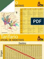 Tarifario Oficial Radio Taxis Paz