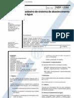 ABNT NBR 12586 - 1992 - NB 1404 - Cadastro de Sistema de Abastecimento de Agua