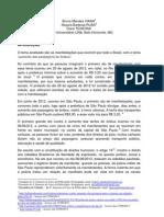 análise manifestações no Brasil