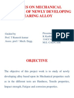 STUDIES ON MECHANICAL BEHAVIOUR OF NEWLY DEVELOPING BEARING ALLOY