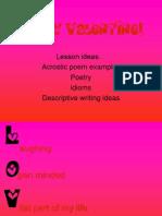 Be My Valentine Writing Activities Teacher Resource 4th 5th Grd