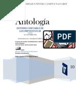 Antologia de Estudio Contable de Los Impuestos III CP0942 Matutino IX Cuatri. Sabatino Mayo-Agosto 2012 Ok 3