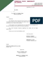 Intrams Letter