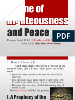 A Time of Righteousness and Peace