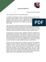 Comunicado Público Nº9 - 2013