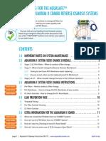 Aquasafe Aquarium II Upkeep Instructions and Filter Change Schedule