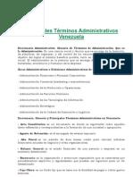 Principales Términos Administrativos Venezuela