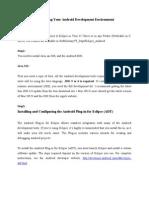 Eclipse & Android Installation Procedure