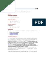 Help - Filter (Filter Design Toolbox)