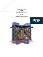 Summary of the ITER FDR