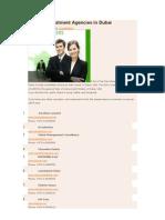 31 Top Recruitment Agencies in Dubai