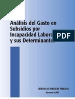 Analisis de Gasto en Subsidios
