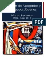 Informe de Comisión de Abogados y Abogadas Jóvenes- Junio 2013