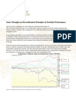 Some Thoughts on Diversification Principles & Portfolio Performance - Gevers Wealth Management, LLC June 2013
