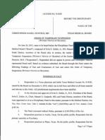 Dr. Christopher Daniel Duntsch TMB Order