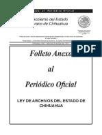 Ley de Archivos Chihuahua