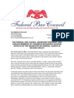 FBC Sequestration President Letter and Press Release