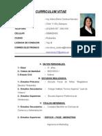 Curriculum Maria Elena Cordova Narvaez
