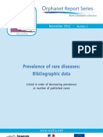Prevalence of Rare Diseases by Decreasing Prevalence or Cases