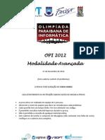 Prova Avancado 2012