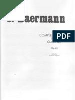 Carl Baermann - Complete Method for Clarinet