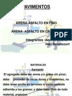 PAVIMENTOS DE ARENA-ASFALTO EN FRÍO
