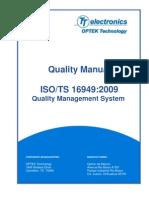 Quality Manual ISO TS 16949 2009