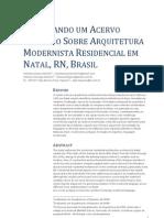 Explorando Um Acervo Primário Sobre Arquitetura Modernista Residencial em Natal, RN, Brasil