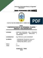 Contestacion de La Demanda Monografia